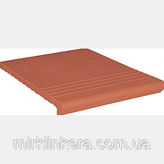 Клинкерная ступень King Klinker  Венецианская рифленая Ruby-red (01)