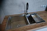 Кухонная мойка Germece HANDMADE 7541 HD-S001 двойная стальная, фото 2