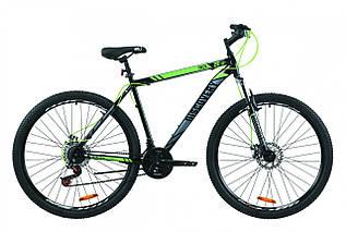 """Велосипед горный мужской 29"""" Discovery Trek AM DD 2020 рама 19 и 21"""" черно-зеленый с серым"""