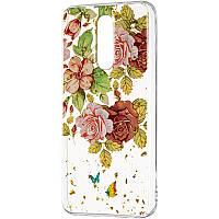 Чехол силиконовый Deep Shine Flowers для Xiaomi Redmi 8 Rose