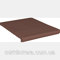 Клинкерная ступень King Klinker Венецианская рифленая Natural brown (03)