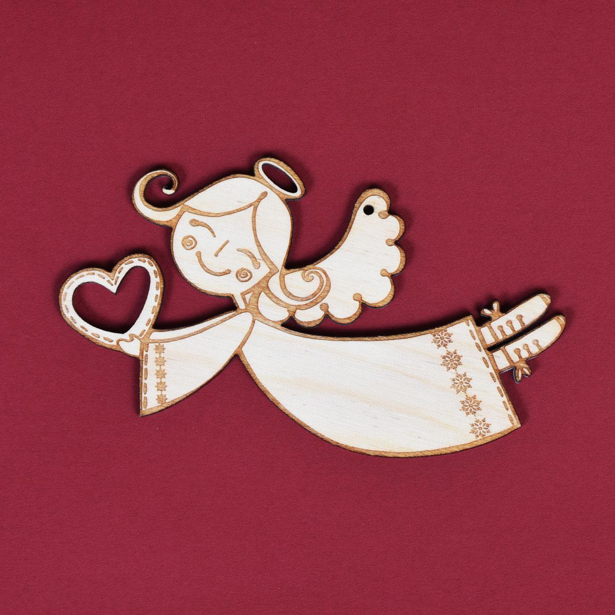 Підвісна іграшка - Дівчинка ангел з сердечком (IP-09)