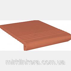Клинкерная ступень King Klinker Античная рифленая Ruby-red (01)