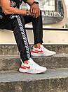 Кросівки чоловічі Nike React White Red, фото 3