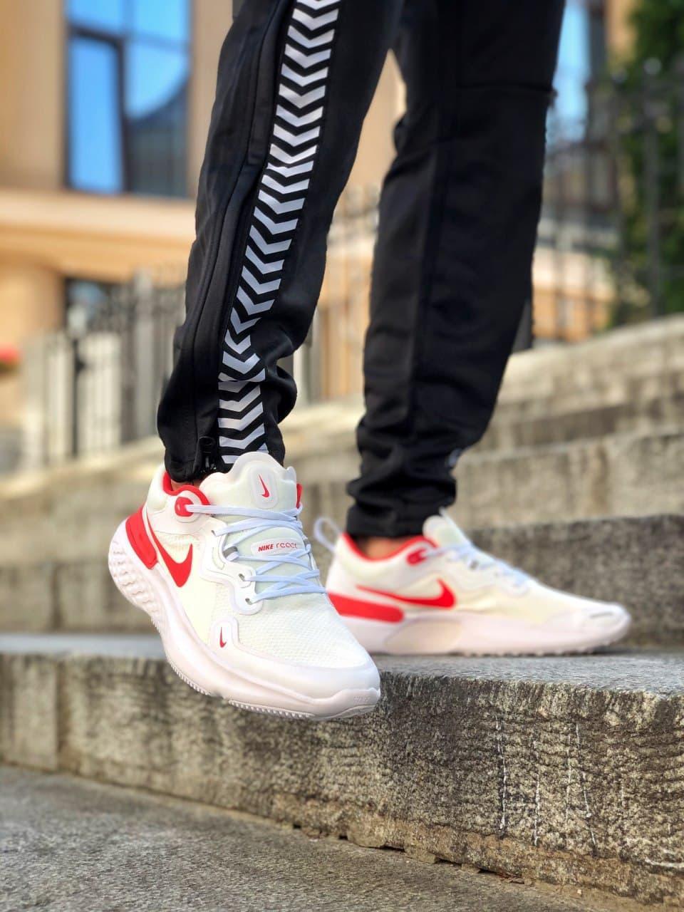 Кросівки чоловічі Nike React White Red