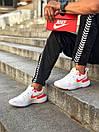 Кросівки чоловічі Nike React White Red, фото 6