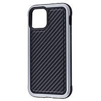 Defense Lux Series (Metal+Leather+TPU) iPhone 12 mini black