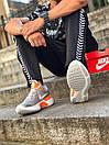 Кросівки чоловічі Nike React Grey White Orange, фото 2