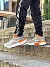 Кросівки чоловічі Nike React Grey White Orange, фото 8