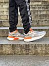 Кросівки чоловічі Nike React Grey White Orange, фото 4