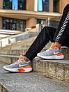 Кросівки чоловічі Nike React Grey White Orange, фото 3