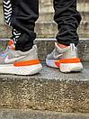Кросівки чоловічі Nike React Grey White Orange, фото 10