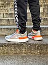 Кросівки чоловічі Nike React Grey White Orange, фото 7