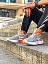 Кросівки чоловічі Nike React Grey White Orange, фото 6