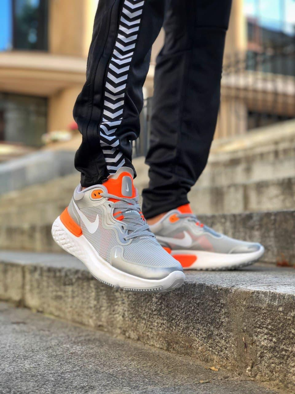 Кросівки чоловічі Nike React Grey White Orange