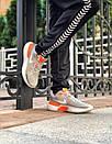 Кросівки чоловічі Nike React Grey White Orange, фото 5