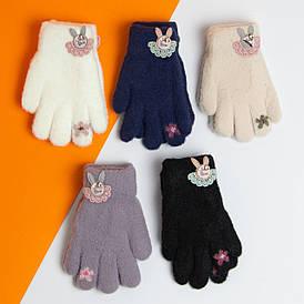 Оптом рукавички дитячі на 2 - 3 - 4 - 5 років подвійний підкладка на дівчаток зимові (арт. 20-7-92)