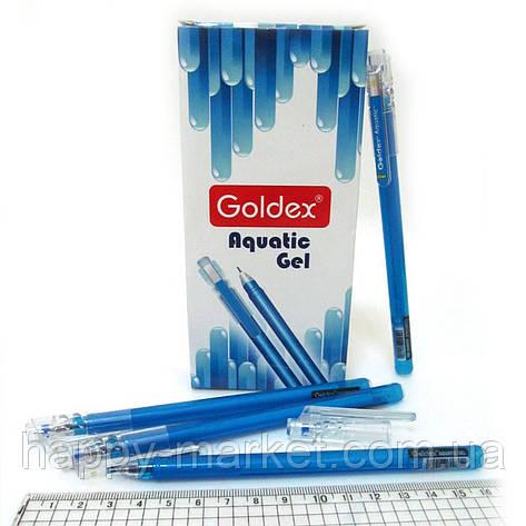 Ручка гель №881 Aquatic gel синяя 0,6mm, фото 2