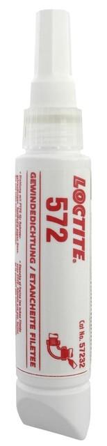 Герметик трубных соединений Loctite 572 (Локтайт 572), до 3', 150 °C,  50 мл, 250мл