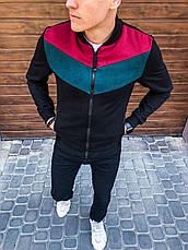 Мужская ветровка весна 'Bablo' Pobedov (черно-бордовая), фото 2