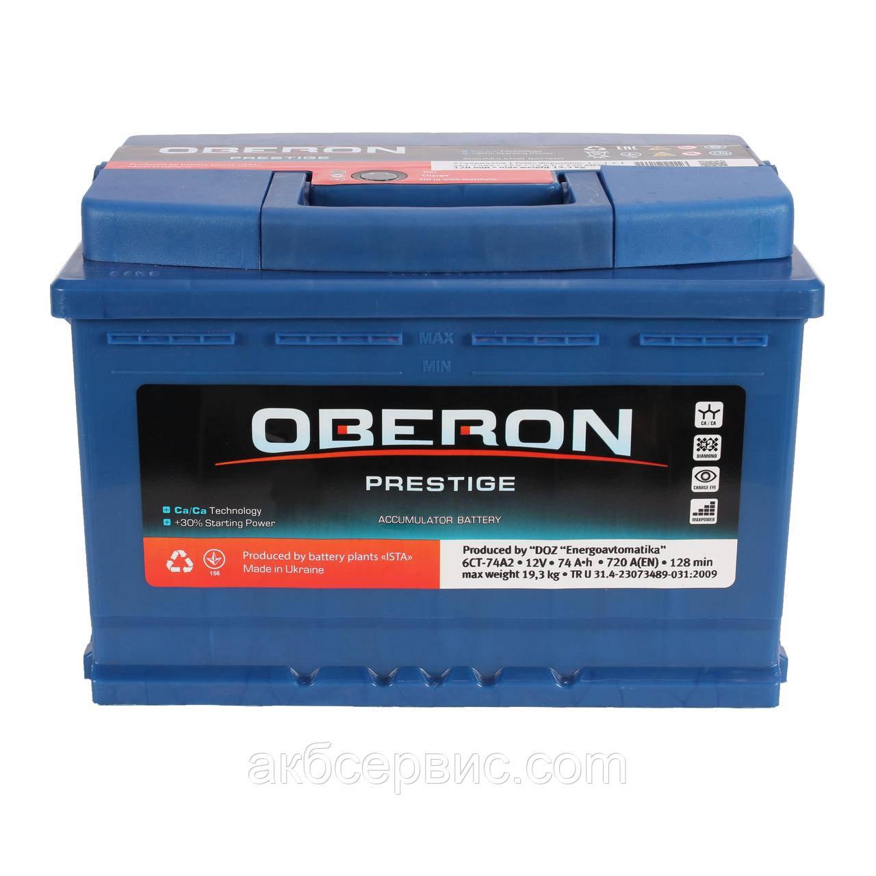 Аккумулятор автомобильный Oberon 6СТ-74 AзE Prestige