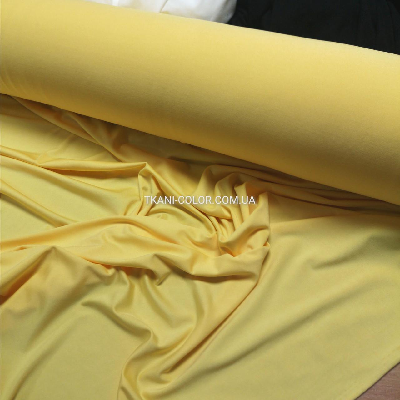 Микромасло трикотаж желтый