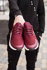 Мужские кроссовки Кросс 270 Pobedov (бордовые белая подошва), фото 3