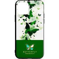 Чехол накладка Butterfly для Huawei Y6s 2019 / Y6 Prime 2019 / Honor 8a Green
