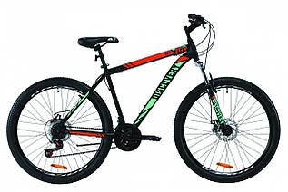 """Велосипед горный 27.5"""" Discovery Trek AM DD 2020, стальная рама 19.5"""" черно-красный с бирюзовым"""