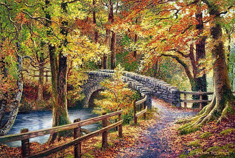 Пазлы Мост в парке на 1000 элементов, фото 2