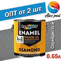 Kompozit DIAMOND Серебристый 0,65 л - Эмаль антикоррозионная 3 в 1