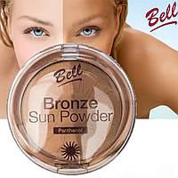 Пудра для лица бронзирующая с пантенолом BELL Bronze Sun Powder