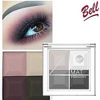 Тени для век BELL 4 Mat Eyeshadows, фото 1