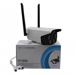 Уличная IP камера видеонаблюдения с регулируемым штативом 1080p WIFI ROTATE IP 2.0 Mp UKC 3020 белый