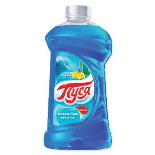 Универсальное чистящее и моющее средство для уборки Пуся - морская свежесть, 1 л