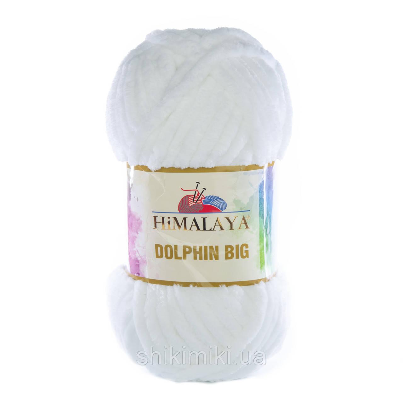 Пряжа плюшевая Dolphin Big, цвет Белый