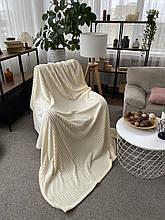 Теплий Плед, плюшевий, м'який матеріал у смужку велсофт Original blanket євро 200*230см Фіолетовий