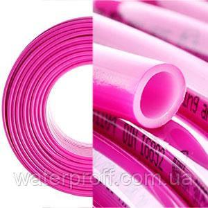 Труба теплый пол с кислородным барьером PEX-B EVOH 16*2.0 Pink KOER, фото 2