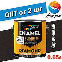 Kompozit 3 в 1 DIAMOND Коричневая 0,65 л - Эмаль антикоррозионная 3 в 1