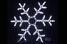 Декор.Сніжинка МОТИВ. Розмір: 60 * 60см, IP44. З 1,5 м чорним кабелем. 230V