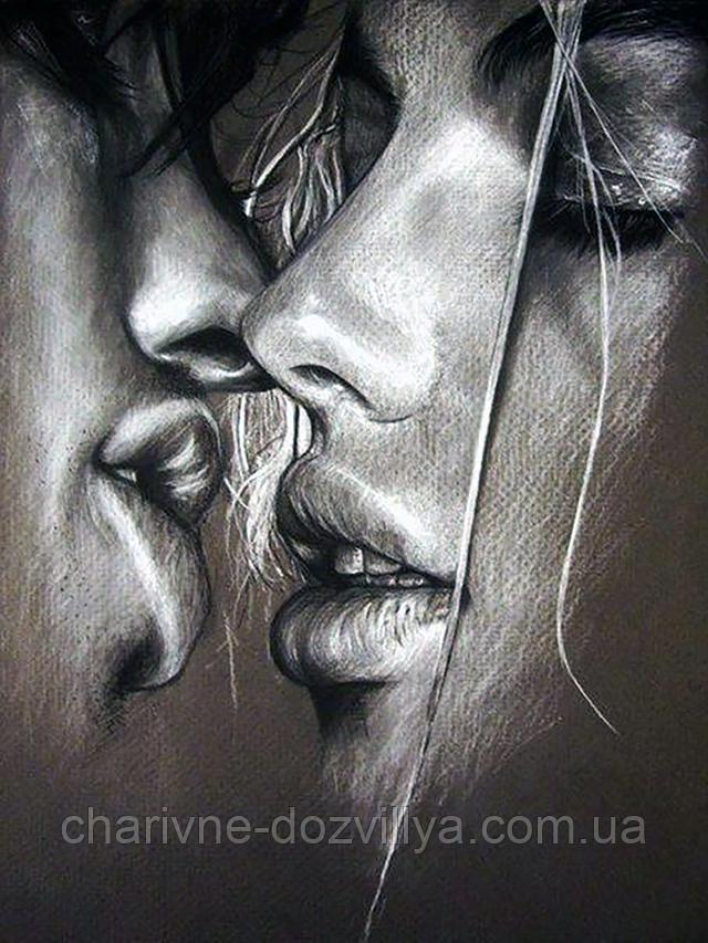 """Набор алмазной вышивки (мозаики) """"Поцелуй-6"""""""