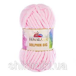 Пряжа плюшевая Dolphin Big, цвет Нежно-розовый