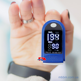 Пульсоксиметр Pulse Oximeter Symbol Display (CMS50DL) Blue/White