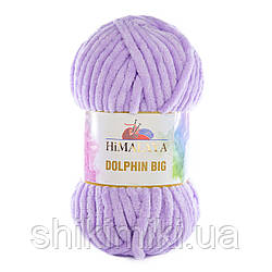 Пряжа велюровая Dolphin Big, цвет Сиреневый