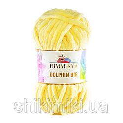 Пряжа плюшевая Dolphin Big, цвет Желтый