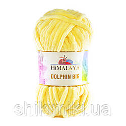 Пряжа велюрова Dolphin Big, колір Жовтий