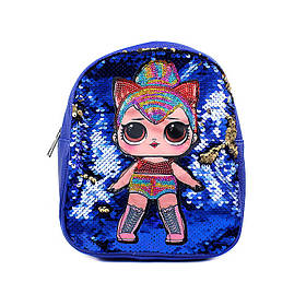 Дитячий Рюкзак з паєтками LOL Синій