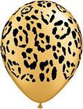 "Латексна кулька принт Леопард золотий 060 12"" 30см Belbal ТМ ""Star"", фото 2"