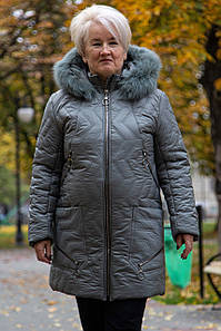 Крутка пальто женское, зимнее удлиненное