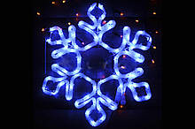 """Декор. Сніжинка МОТИВ. 24 """": 60.5Х52см, IP44. З 5футовим чорним"""